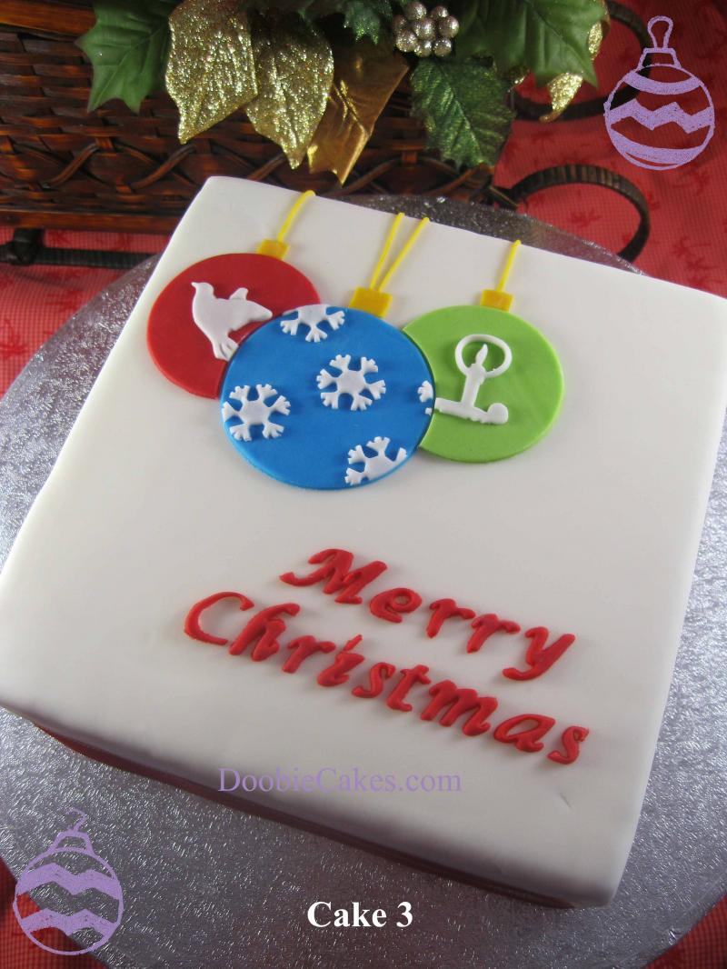 Christmas Cake Decorating Ideas Without Fondant : Doobie Cakes - Christmas Cakes